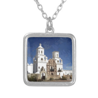 Painted White Mission Personalized Necklace