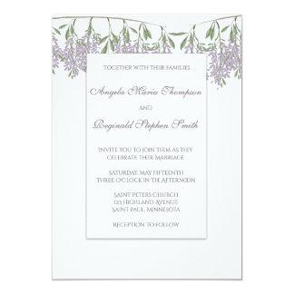 Painted Wisteria Wedding Invitation