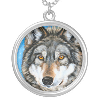 Painted Wolf Necklace