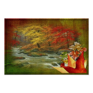 Painted Wood Autumn Poster