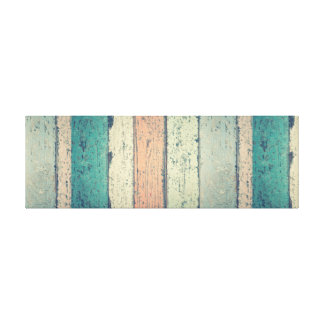 Painted Wooden Beach Panel. Canvas Print