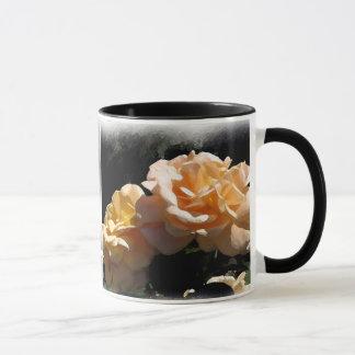 Painted Yellow Roses Mug