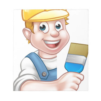 Painter and Decorator Cartoon Handyman Notepad