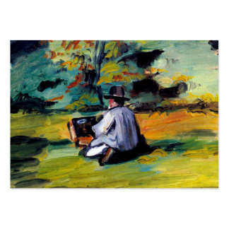 Painter at work impressionist art Paul Cezanne Large Business Cards (Pack Of 100)