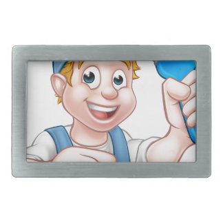 Painter Decorator Handyman Cartoon Character Belt Buckles