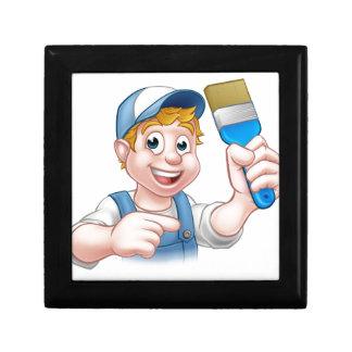 Painter Decorator Handyman Cartoon Character Gift Box