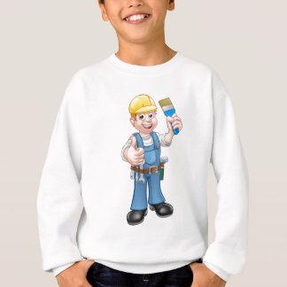 Painter Decorator Holding Paintbrush Sweatshirt