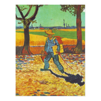 Painter on His Way to Work Postcard