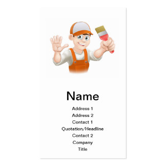 Painter or decorator man business card