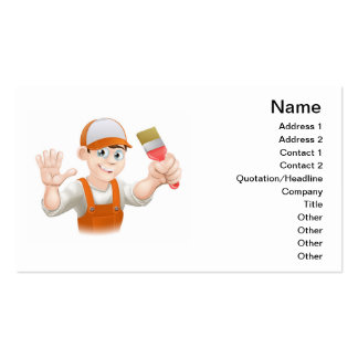 Painter or decorator man business card template