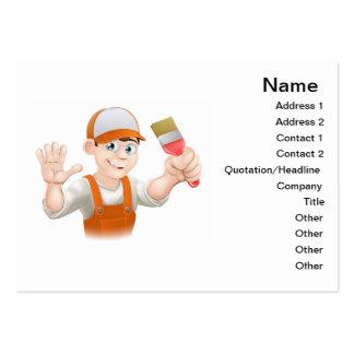 Painter or decorator man business card templates
