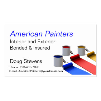 Painter Pack Of Standard Business Cards
