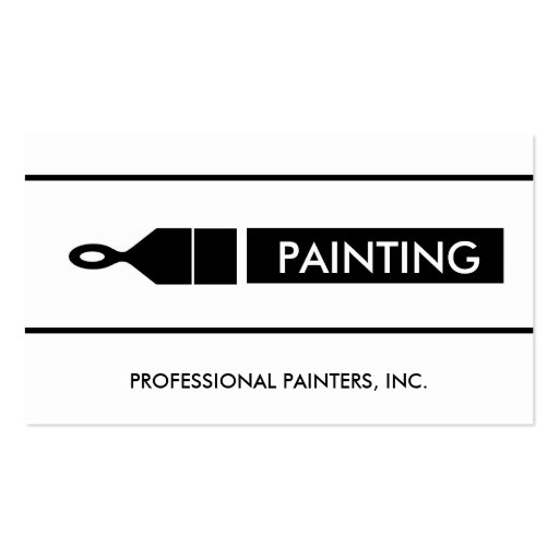 Painter Painting Contractor Paint Brush Business Cards