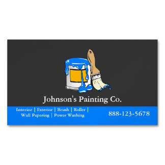 Painter Painting Paint Can Paint Brush Magnetic Business Card