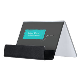 Painter Painting Paint Roller Desk Business Card Holder
