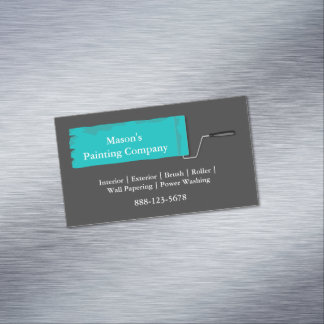 Painter Painting Paint Roller Magnetic Business Cards