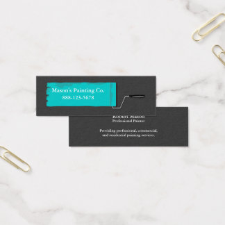 Painter Painting Paint Roller Mini Business Card