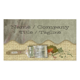 Painter´s Brushes Pack Of Standard Business Cards