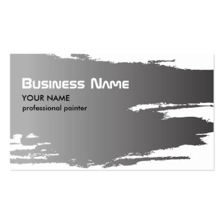 Painter Silver Business Card Template