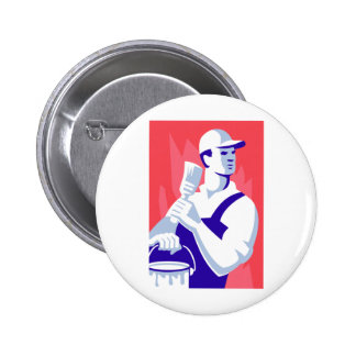 Painter With Paint Brush Button
