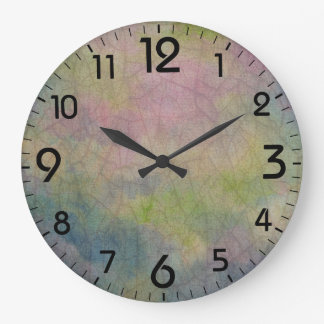 Painterly abstract background large clock