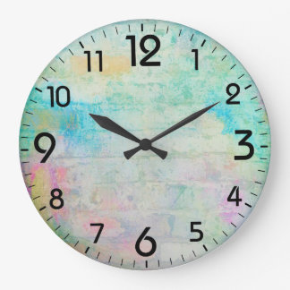 Painterly abstract background wall clocks