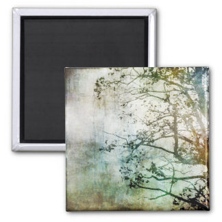 Painterly Abstract Tree Magnet