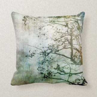 Painterly Abstract Tree Pillow Decor