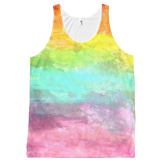 Painterly All-Over Print Tank Top