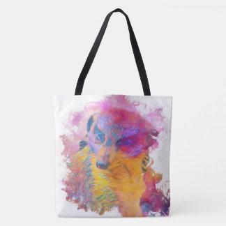 Painterly Animal - Meerkat Tote Bag