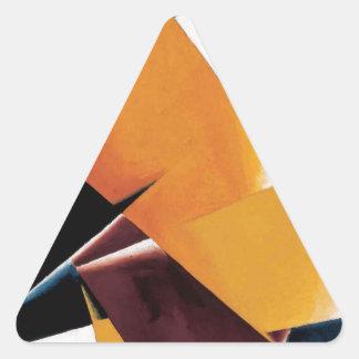 Painterly Architectonic by Lyubov Popova Triangle Sticker
