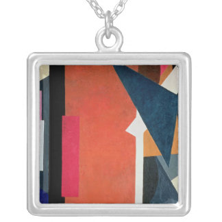 Painterly Architectonics, 1916-17 Silver Plated Necklace