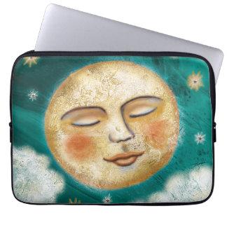 Painterly Celestial Moon Sleeve Laptop Sleeve