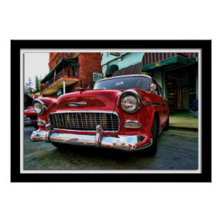 Painterly Classic Red Chevy Posters