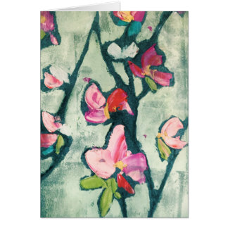 Painterly flowers card