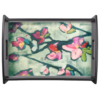 Painterly flowers food tray