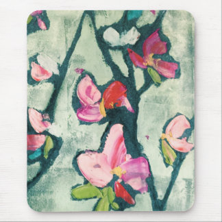 Painterly flowers mouse pad