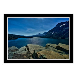Painterly Lake Mary, GNP Poster