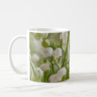 Painterly Lily of the Valley Flower Bouquet Coffee Mug