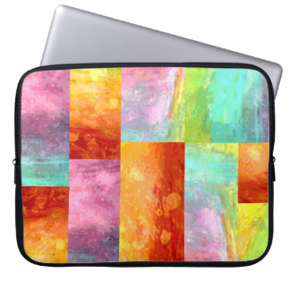 Painterly Mosaic Computer Sleeve