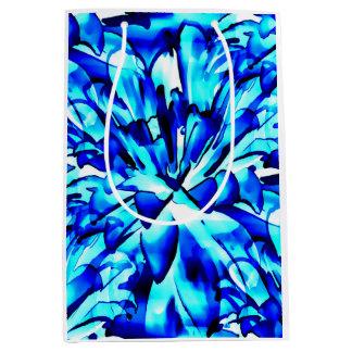 Painterly Ocean Blue Floral Gift Bags Medium Gift Bag