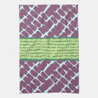 Painterly Pattern Purple & green Kitchen Towel