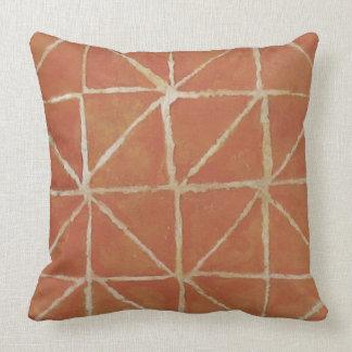 Painterly Pattern Rust Throw Pillow