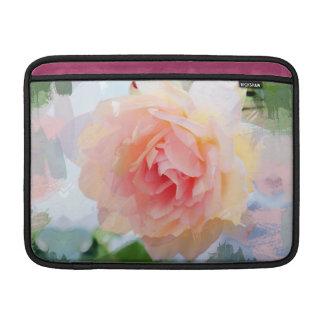 Painterly Pink Rose MacBook Sleeve