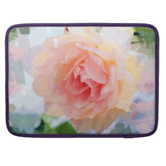 Painterly Pink Rose Sleeves For MacBook Pro