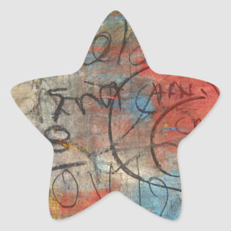 Painterly Scribbles Star Sticker