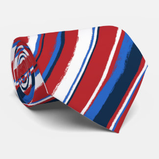 Painterly Striped Neckties