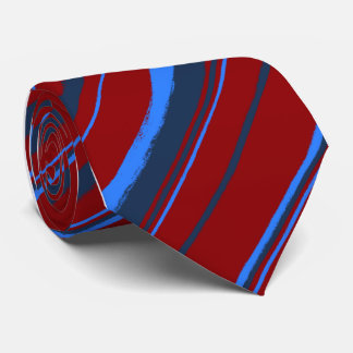 Painterly Striped Red Single Sided Tie