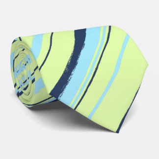 Painterly Striped Two-Sided Wedding Tie