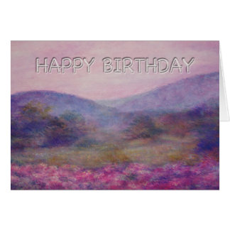 painterly summer nocturne birthday greeting cards